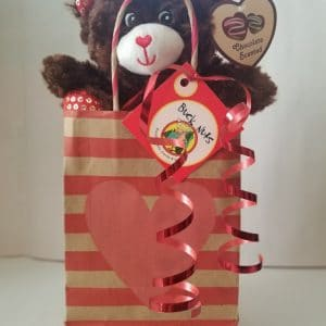 Valentine Gift Bag #1- Gummy Lobsters/Choc. Animal Crackers/Yogurt Pretzels